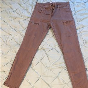 rose tuape ultra skinny jeans w zipper accents